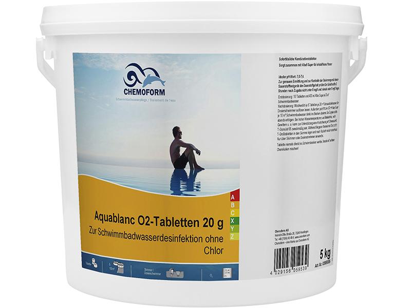 Активный кислород Chemoform, Аквабланк О2 в таблетках 20g 5kg 0595005