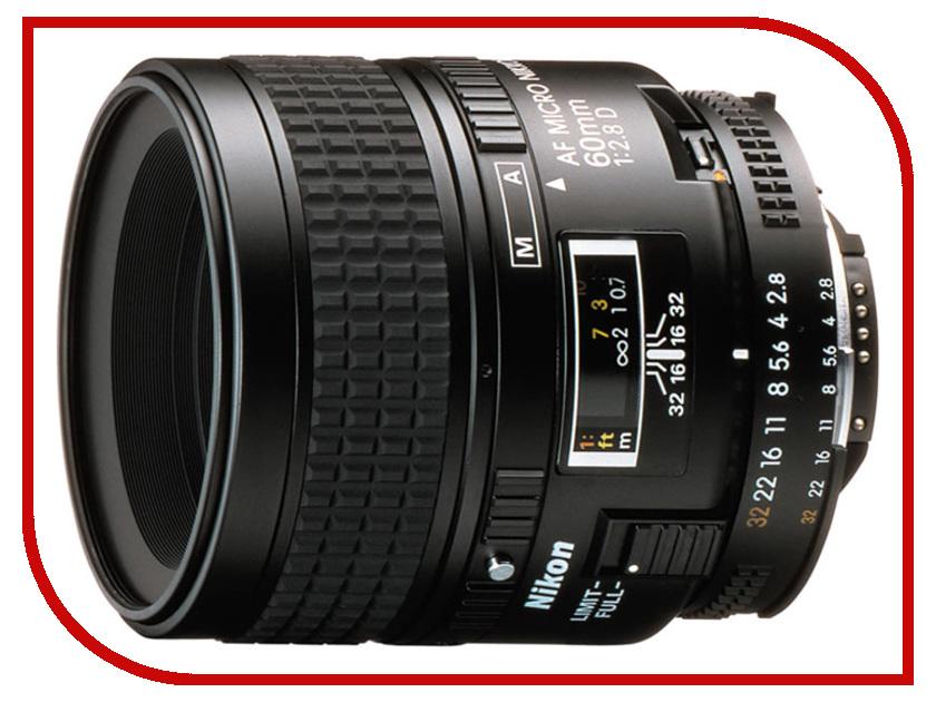 Объектив Nikon Nikkor AF 60 mm F/2.8 D Microобъективы для Nikon/FujiFilm<br><br>