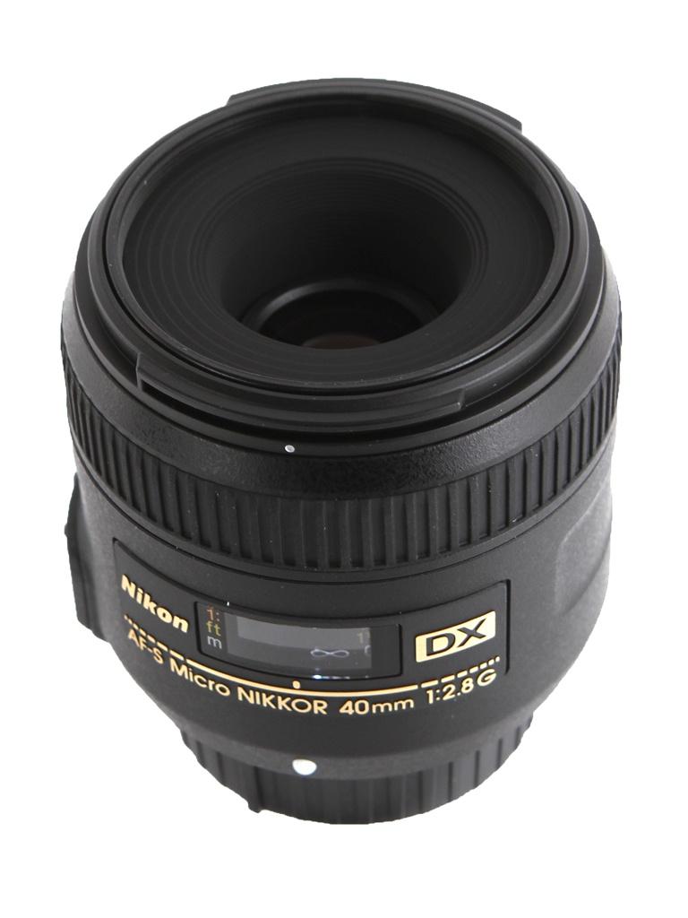 Объектив Nikon Nikkor AF-S 40 mm F/2.8 G DX Micro зеркальный фотоаппарат nikon d7500 af s dx nikkor 18 105vr черный