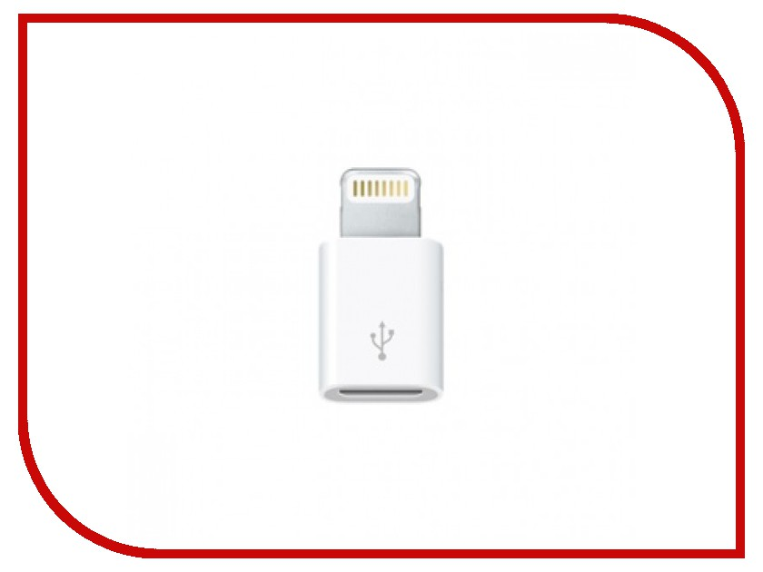Аксессуар APPLE Lightning to Micro USB Adapter MD820ZM/A 50cm 1 5ft short usb a male to dual micro usb cable data charging splitter cable usb to micro usb for xiaomi androidmobile cabl