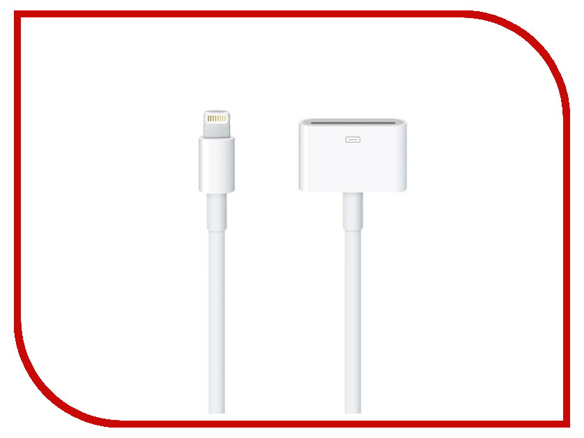 Аксессуар APPLE Lightning to 30-pin Adapter 0.2m MD824ZM/A<br>