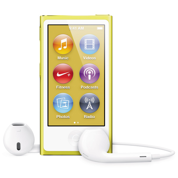 Плеер APPLE iPod Nano 7 - 16Gb Yellow MD476
