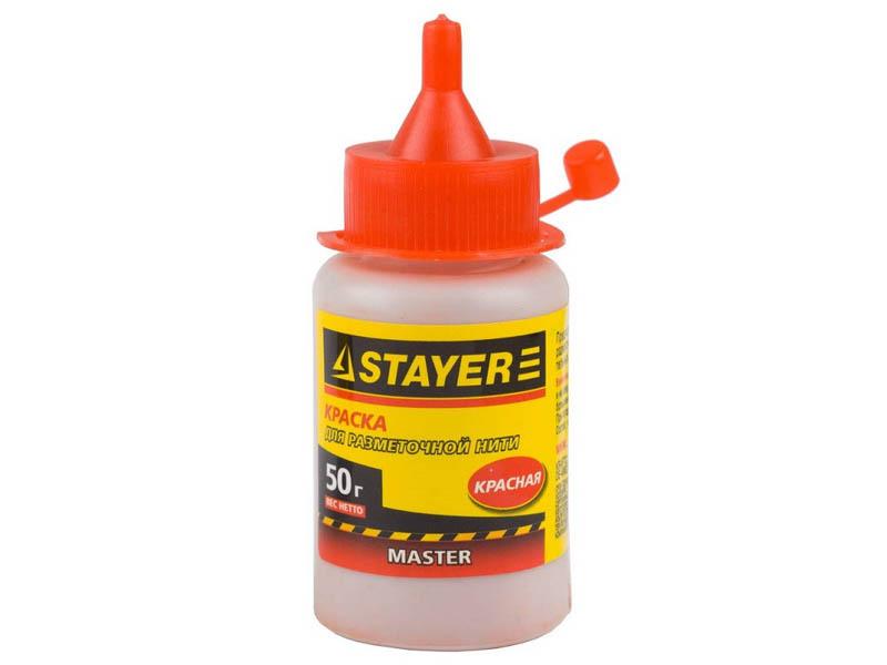 Краска для разметочных шнуров Stayer 50g Red 0640-2 / z01