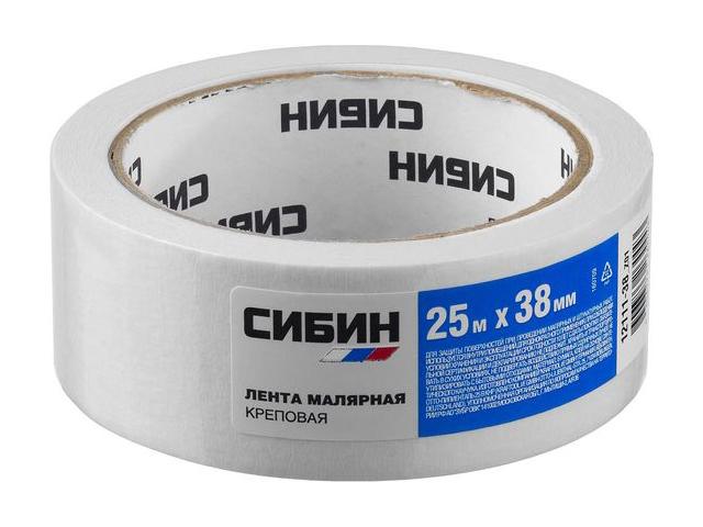 Клейкая лента Сибин Малярная 38mm x 25m 12111-38_z01