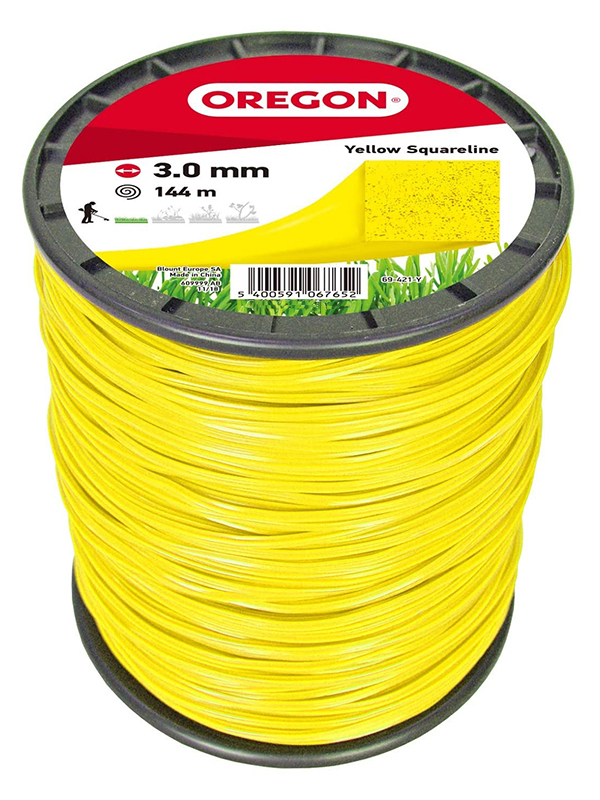Леска для триммера Oregon Yellow Squareline 3mm x 144m 69-421-Y