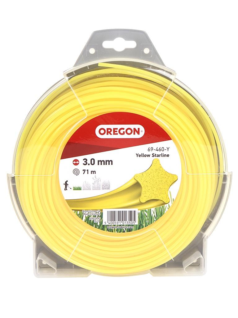 Леска для триммера Oregon Yellow Starline 3mm x 71m 69-460-Y