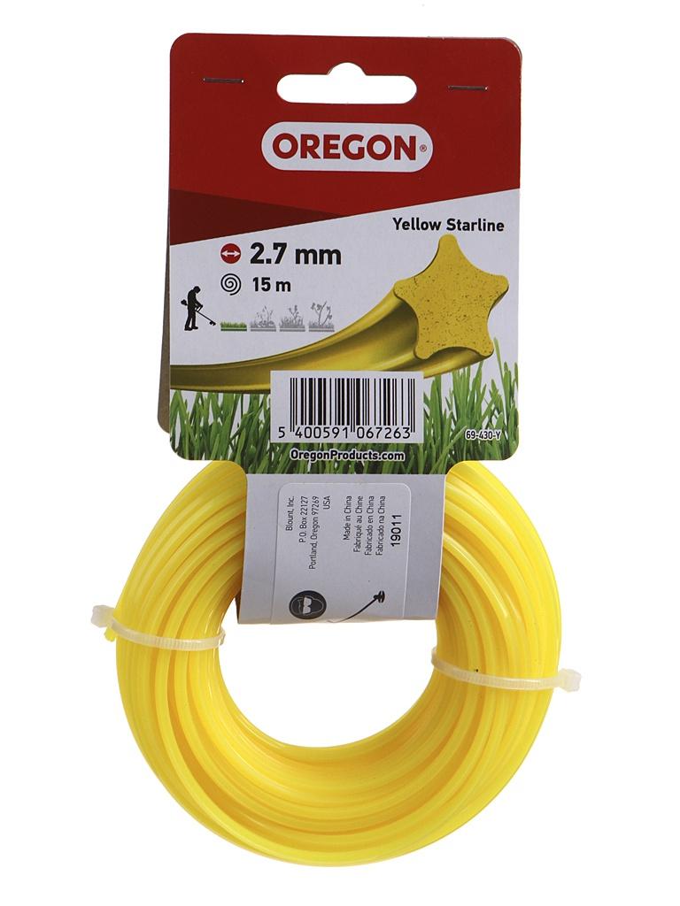 Леска для триммера Oregon Yellow Starline 2.7mm x 15m 69-430-Y