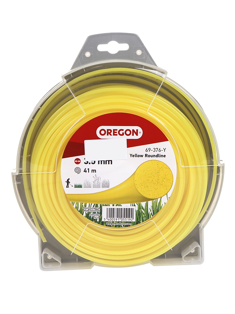 Леска для триммера Oregon Yellow Roundline 3.5mm x 41m 69-376-Y
