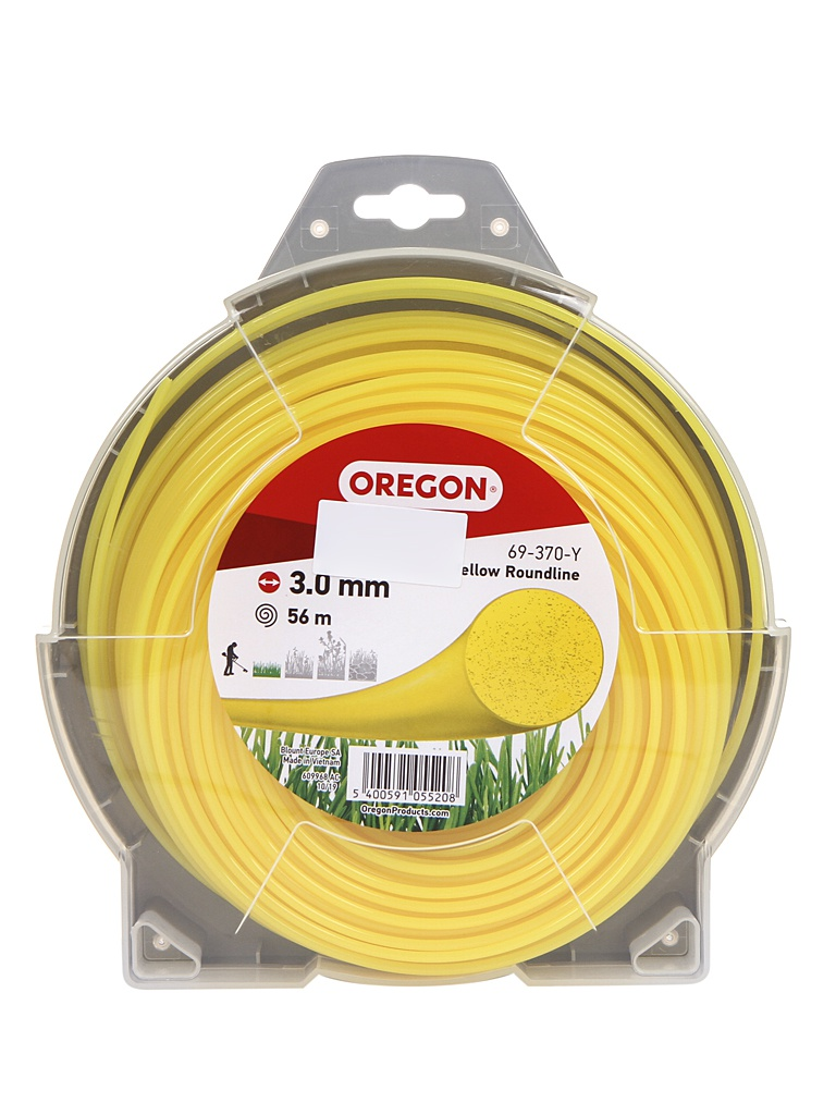 Леска для триммера Oregon Yellow Roundline 3mm x 56m 69-370-Y