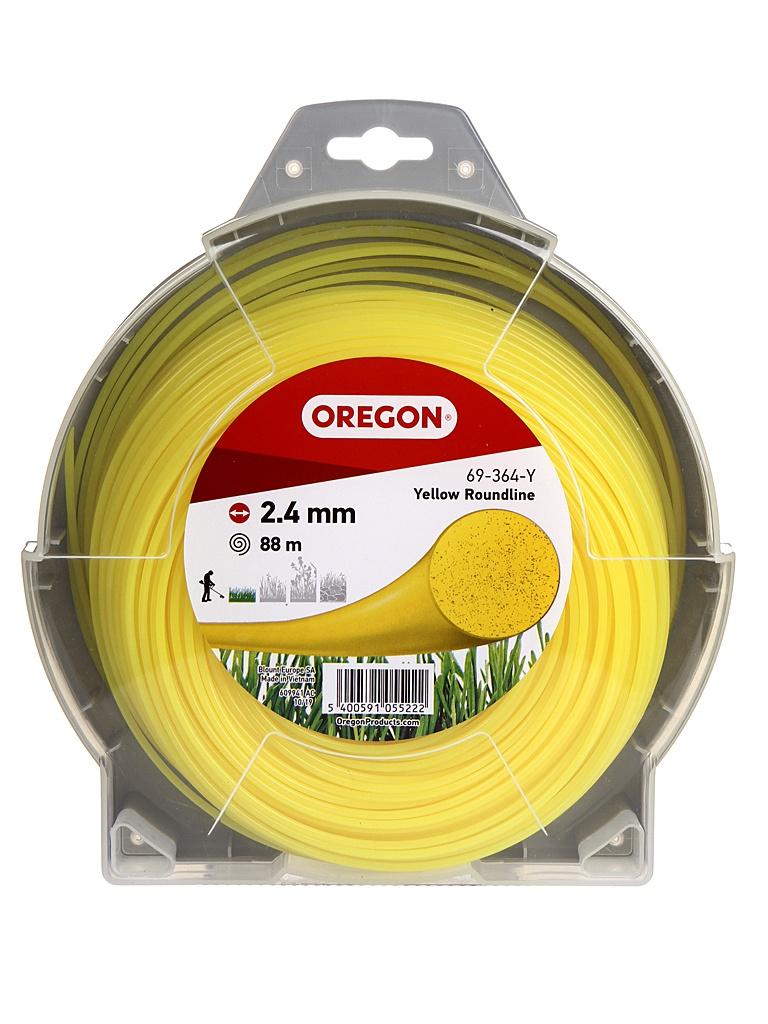 Леска для триммера Oregon Yellow Roundline 2.4mm x 90m 69-364-Y