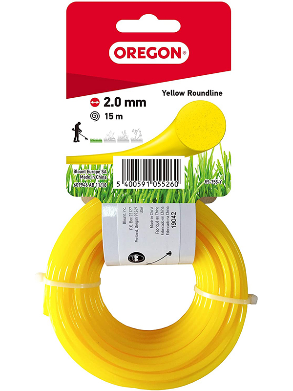 Леска для триммера Oregon Yellow Roundline 2mm x 15m 69-356-Y