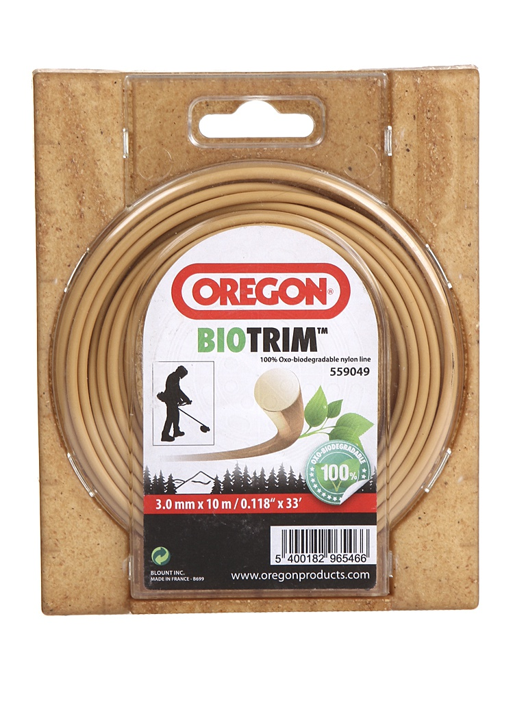 Леска для триммера Oregon Biotrim 3mm x 10m 559049