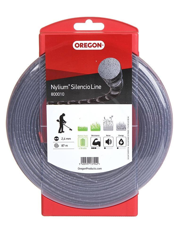 Леска для триммера Oregon Nylium Silencio Line 2.4mm x 87m 800010
