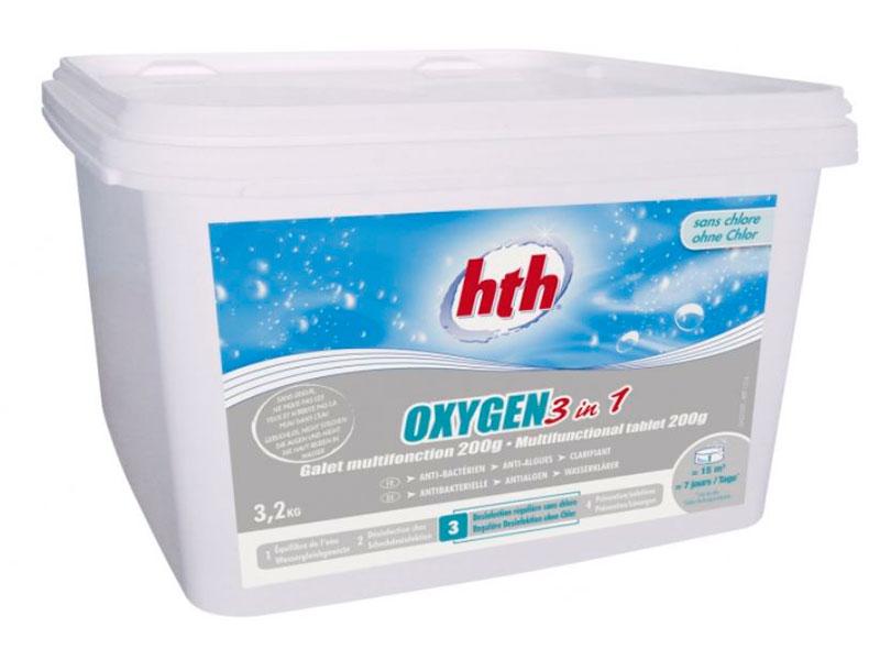 Многофункциональная таблетка HTH Oxygen 3 in 1 3.2kg D800260H2