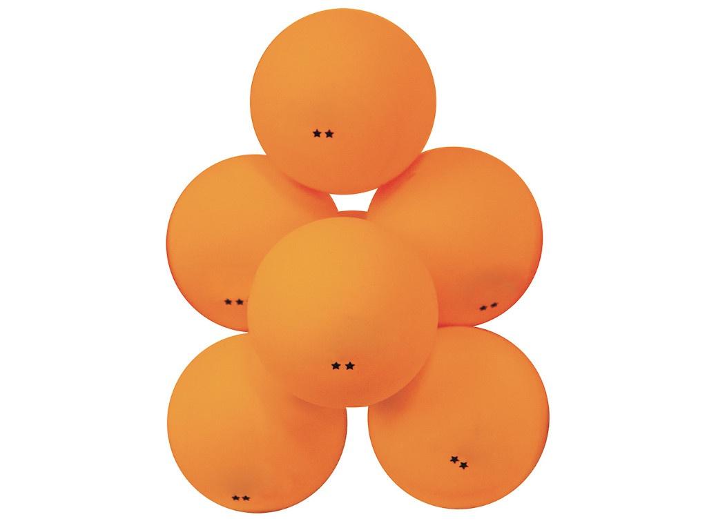 Мячи для настольного тенниса Atemi 2 6шт Orange ATB201