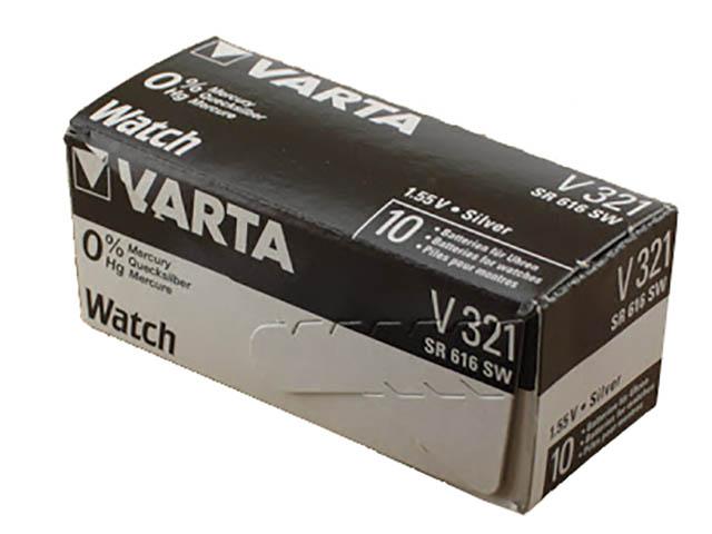 Батарейка 321 - Varta SR616SW/10BOX