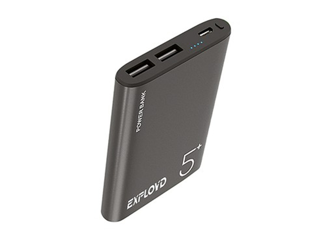 Внешний аккумулятор Exployd Power Bank Classic Aluminum 5000mAh Grey EX-PB-900