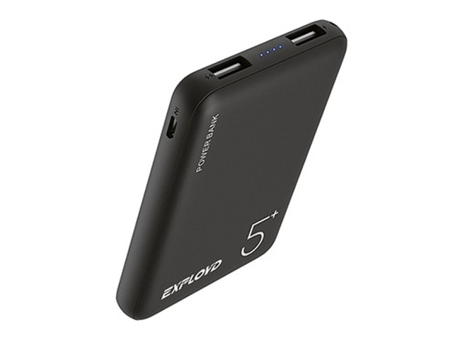 Внешний аккумулятор Exployd Power Bank Classic Slim 5000mAh Black EX-PB-888