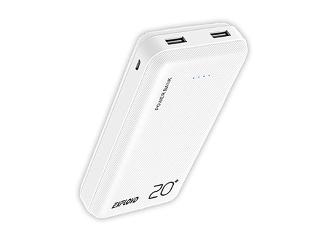 Внешний аккумулятор Exployd Power Bank Classic Slim 20000mAh White EX-PB-893