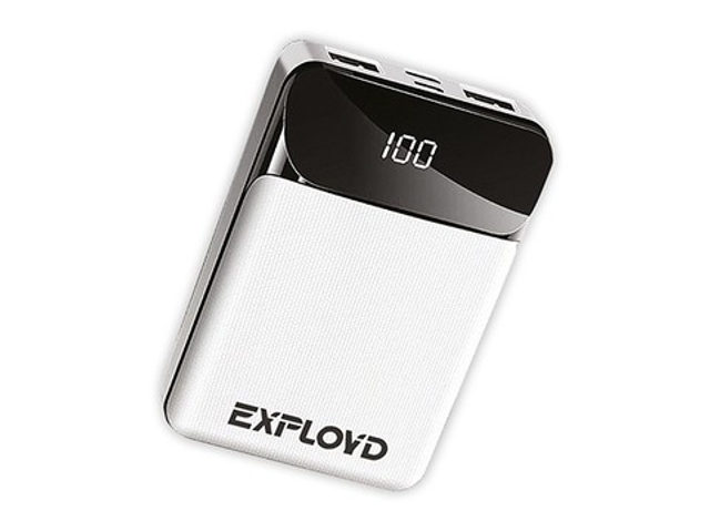 Внешний аккумулятор Exployd Power Bank Classic Slim 10000mAh White EX-PB-910