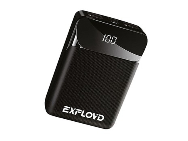 Внешний аккумулятор Exployd Power Bank Classic Slim 10000mAh Black EX-PB-909