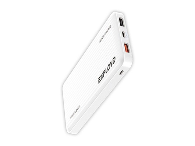 Внешний аккумулятор Exployd Power Bank Classic Slim 10000mAh White EX-PB-897