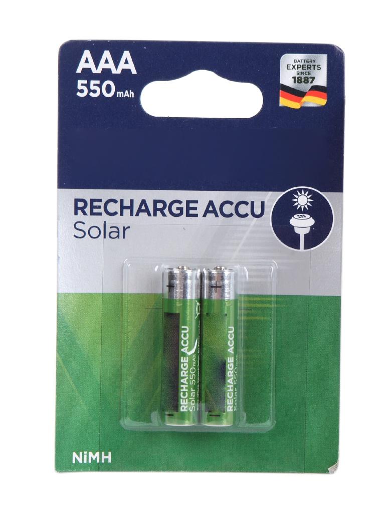 Аккумулятор AAA - Varta Solar 550 mAh (2 штуки) VR AAA550mAh/2BL SOLAR