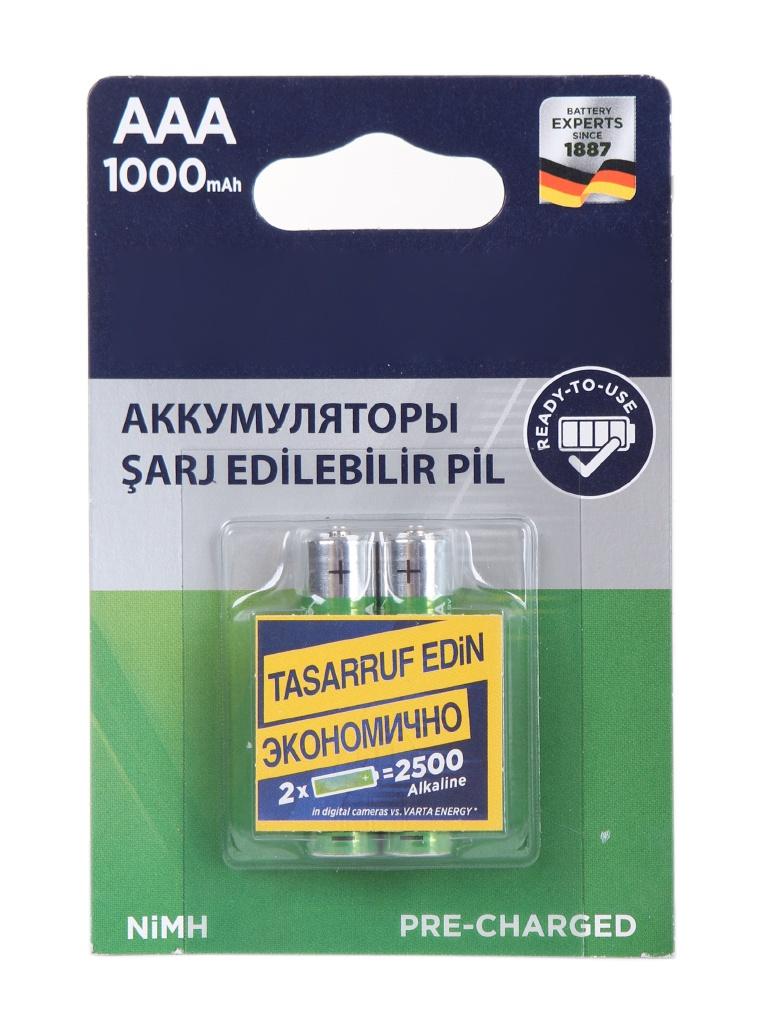 Аккумулятор AAA - Varta Ready2Use 1000 mAh (2 штуки) VR AAA1000mAh/2BL