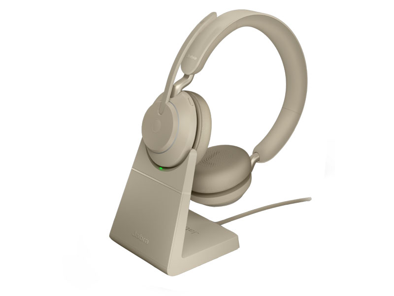 Наушники Jabra Evolve2 65 Link380a MS Mono Stand Beige 26599-899-988