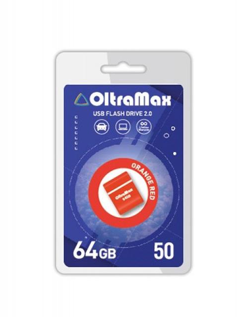 Фото - USB Flash Drive 64Gb - OltraMax 50 OM-64GB-50-Orange Red блендер oursson hb6070 or orange погружной
