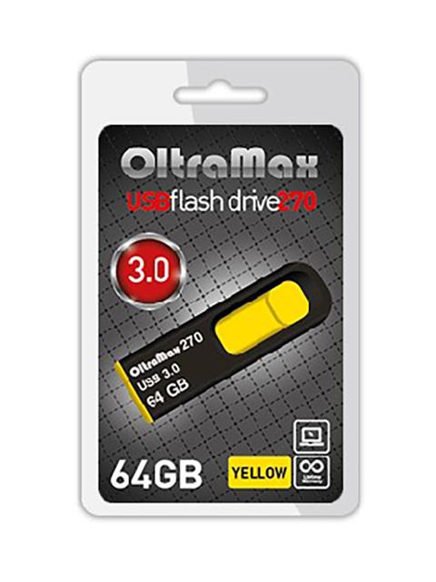 USB Flash Drive 64Gb - OltraMax 270 OM-64GB-270-Yellow