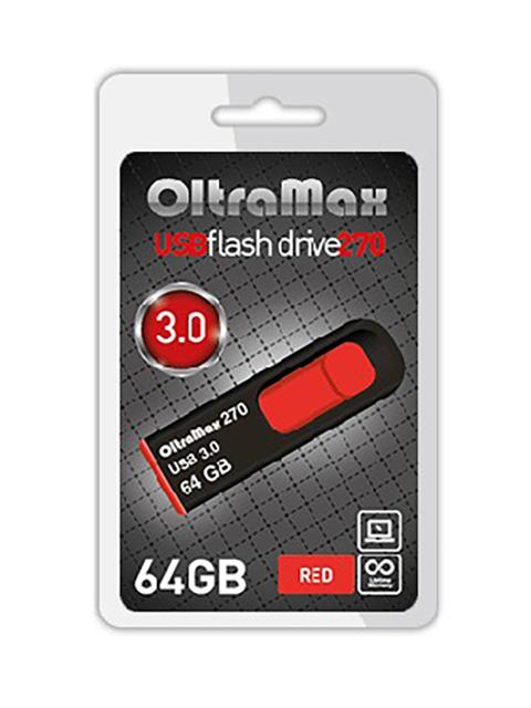 USB Flash Drive 64Gb - OltraMax 270 OM-64GB-270-Red
