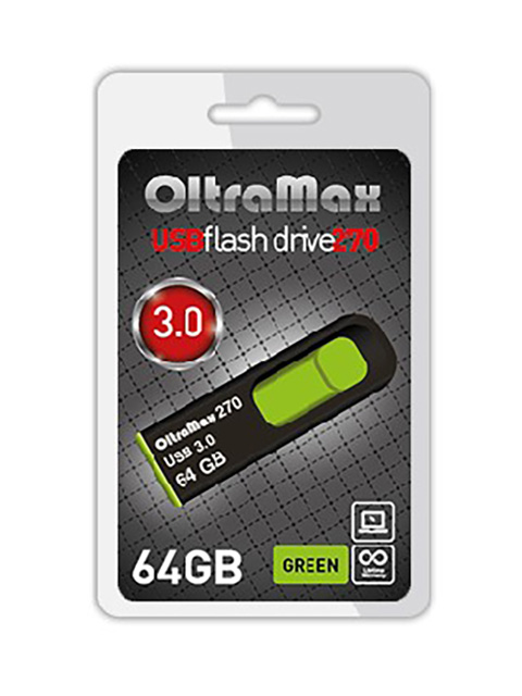 USB Flash Drive 64Gb - OltraMax 270 OM-64GB-270-Green