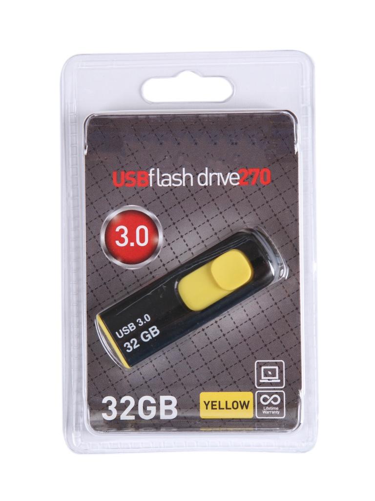 USB Flash Drive 32Gb - OltraMax 270 OM-32GB-270-Yellow