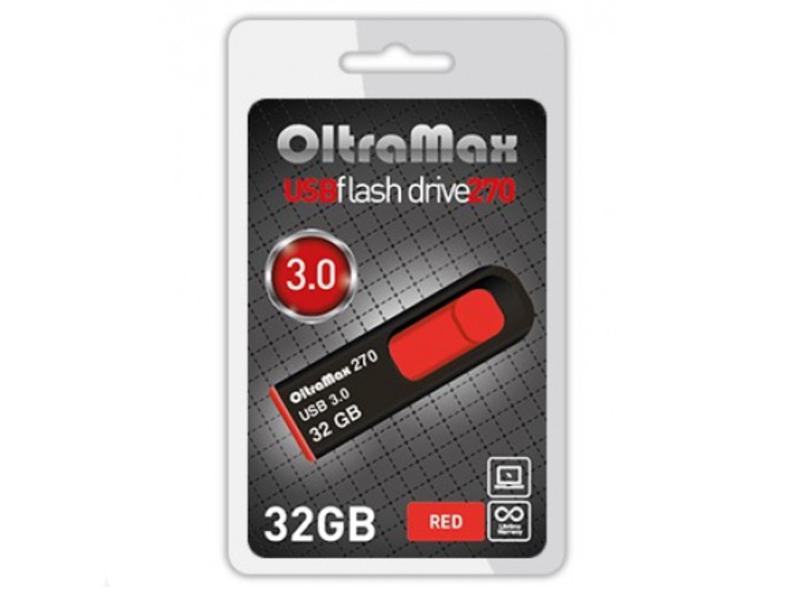 USB Flash Drive 32Gb - OltraMax 270 OM-32GB-270-Red