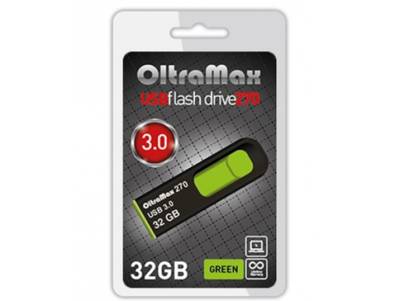 USB Flash Drive 32Gb - OltraMax 270 OM-32GB-270-Green