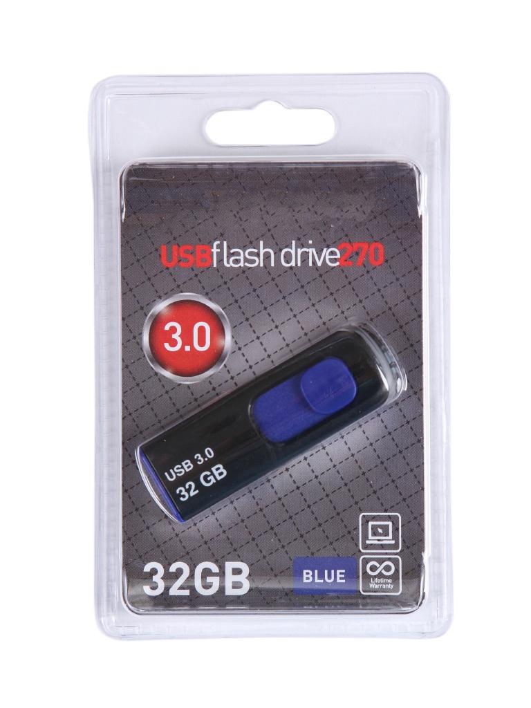 Фото - USB Flash Drive 32Gb - OltraMax 270 OM-32GB-270-Blue usb flash drive 8gb oltramax 250 om 8gb 250 blue
