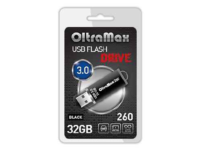 цена на USB Flash Drive 32Gb - OltraMax 260 OM-32GB-260-Black