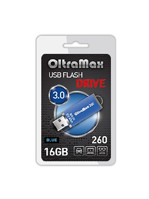 USB Flash Drive 16Gb - OltraMax 260 OM-16GB-260-Blue