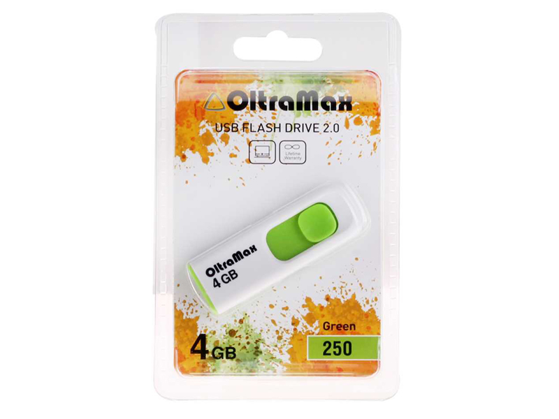 USB Flash Drive 4Gb - OltraMax 250 OM-4GB-250-Green