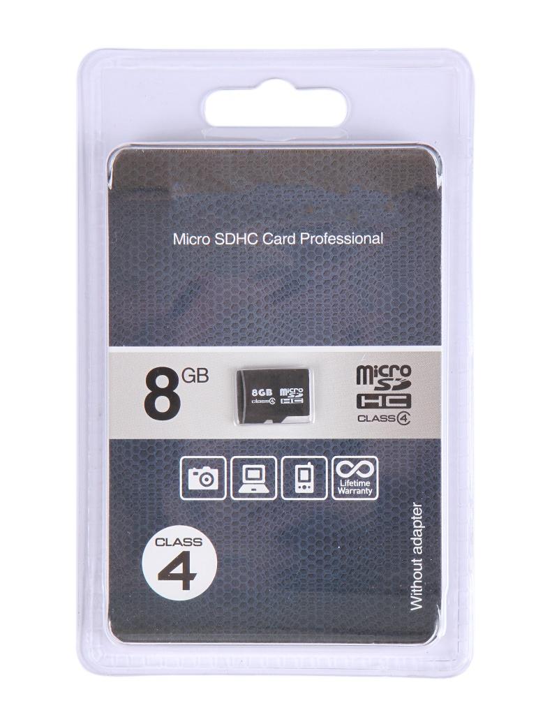 Карта памяти 8Gb - OltraMax Micro Secure Digital HC Class 4 OM008GCSDHC4-W/A-AD
