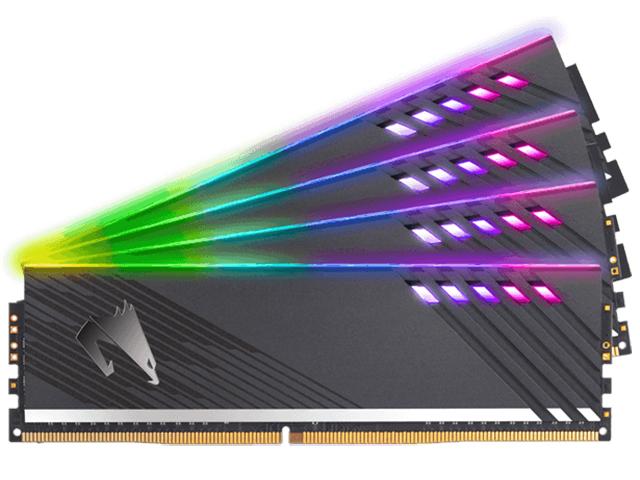 Фото - Модуль памяти GigaByte Aorus RGB Gray DDR4 DIMM 3600MHz PC4-28800 CL18 - 16Gb Kit (2x8Gb) GP-AR36C18S8K2HU416RD модуль памяти ballistix rgb black ddr4 dimm 3600mhz pc4 28800 cl16 16gb bl16g36c16u4bl