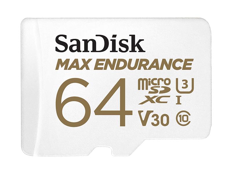 Карта памяти 64Gb - SanDisk microSD Max Endurance Class 10 UHS-I SDSQQVR-064G-GN6IA