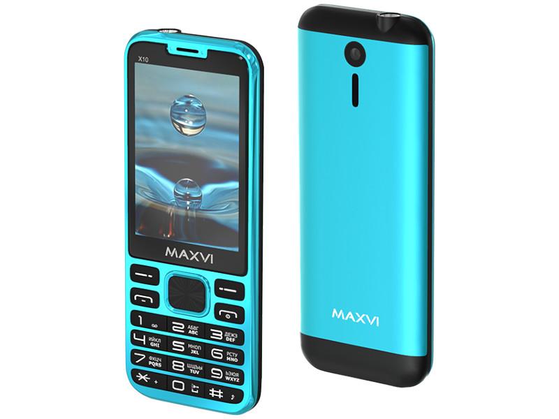 Сотовый телефон Maxvi X10 Aqua Blue сотовый телефон maxvi t5 dark blue