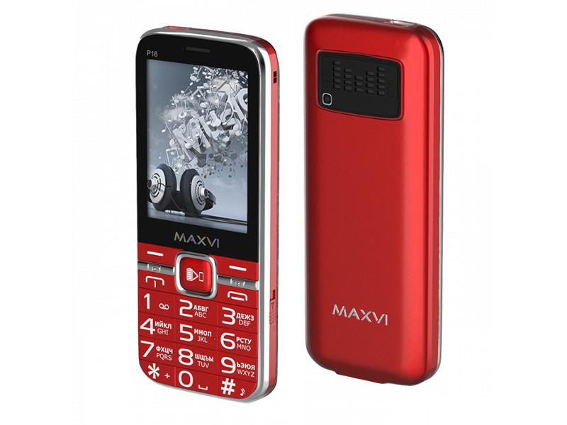 Сотовый телефон Maxvi P18 Red сотовый