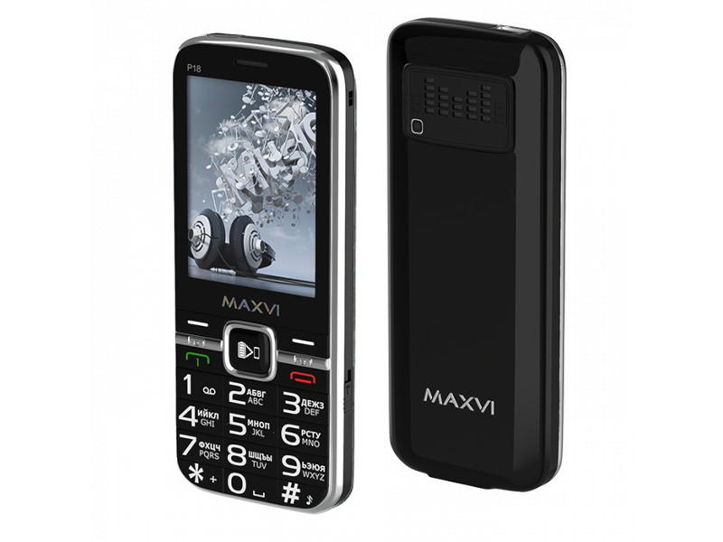 Сотовый телефон Maxvi P18 Black