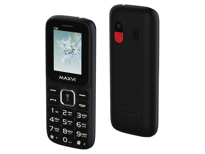 Сотовый телефон Maxvi C26 Black-Blue сотовый телефон maxvi c25 black