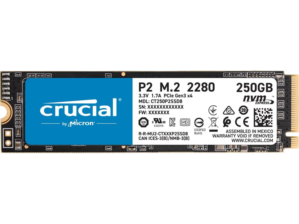 Твердотельный накопитель Crucial P2 PCIe M.2 2280SS 250Gb SSDCT250P2SSD8