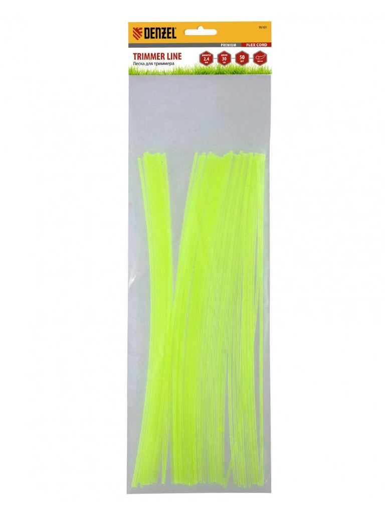 Леска для триммера Denzel Flex Cord 2.4mm x 30cm 50шт 96101