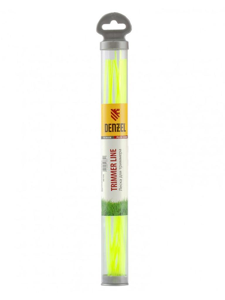 Леска для триммера Denzel Flex Cord 2.4mm x 30cm 20шт 96105
